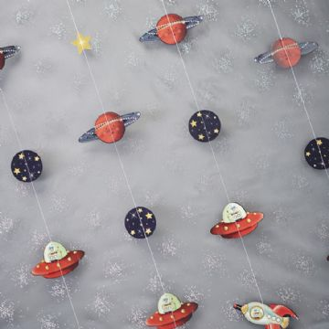 Space Adventure Party Backdrop Decoration